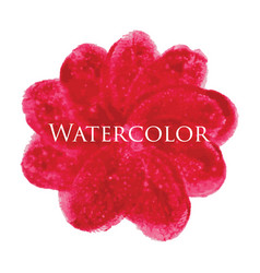 flower watercolor hand drawn texture vector image