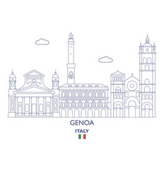 genoa city skyline vector image