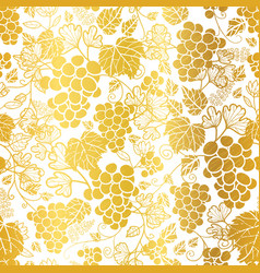Gold and white grapevines fruit repeat vector