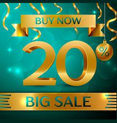 Gold big sale twenty percent for discount vector