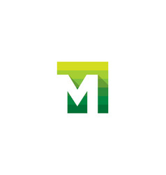 Green letter m logo icon design vector