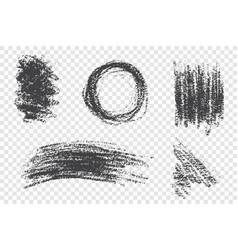 Grunge paint smears set vector