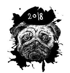 Hand drawn sketch dog vector