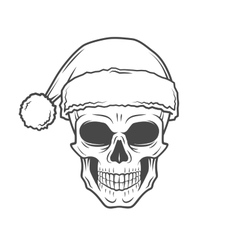Heavy metal Christmas design Bad Santa Claus vector image