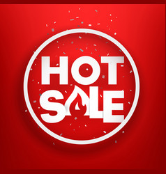hot sale advertising banner photoreal round label vector image