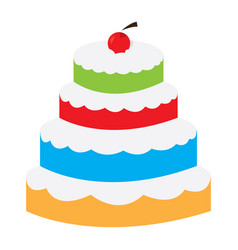 isolated layer cake vector image