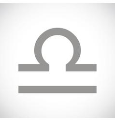 Libra black icon vector