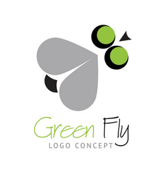 logo concept - funny fly vector image