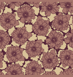 Moody seamless patterns with rose flowers vector