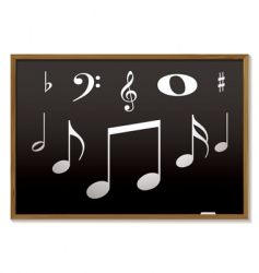 musical blackboard vector image vector image