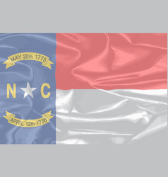 north carolina silk flag vector image