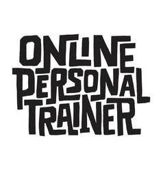 Online personal trainer vector