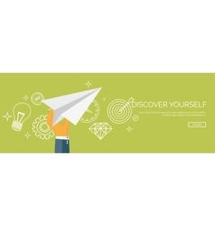 Paper plane Aims Smart vector image