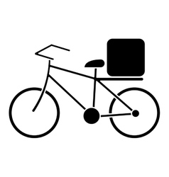 pizza food delivery bicycle pictogram vector image