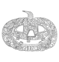 Pumpkin for Halloween coloring vector