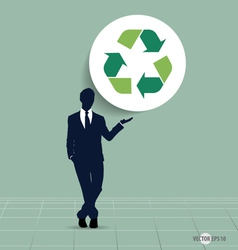 Recycle symbol symbol on the packaging vector image