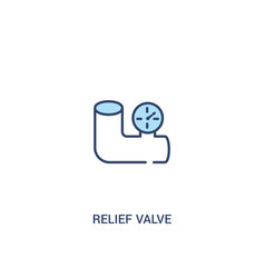 Relief valve concept 2 colored icon simple line vector