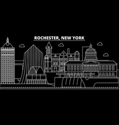 rochester silhouette skyline usa - rochester vector image