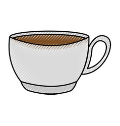 scribble coffee cup cartoon vector image