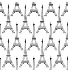 seamless of eiffel tower vector image