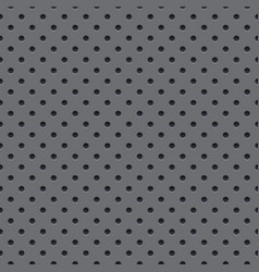 seamless wallpaper of perforated gray metal plate vector image