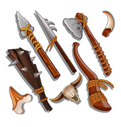 Set ancient of hunting and military weapons vector