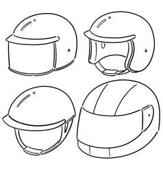 Set motorcycle helmet vector