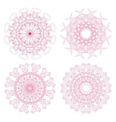 Set of floral rosettes vector image