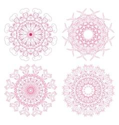 Set of floral rosettes vector