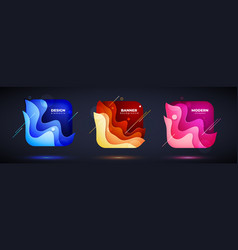 set square liquid abstract geometric shapes vector image