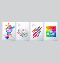 set template geometric covers design gradient vector image