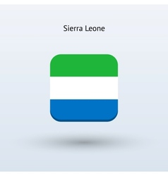 Sierra Leone flag icon vector image