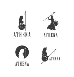 Silhouette of athena vector