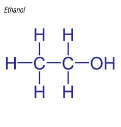 Skeletal formula ethanol antimicrobial vector