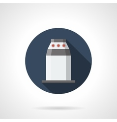 Station turnstile round flat icon vector