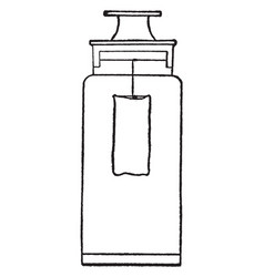 Sulphuric acid vintage vector