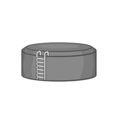 Tank storage icon black monochrome style vector