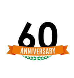 Template 60 years anniversary background with vector