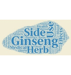The Good and Bad Side of Ginseng text background vector image