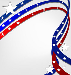 Usa pride background with swirly stripes vector