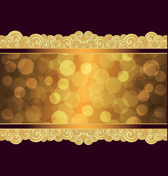 vintage gold frame with place for the text eps 10 vector image