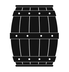 wooden barrel icon simple style vector image