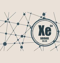 Xenon chemical element vector