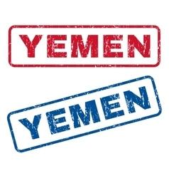 Yemen Rubber Stamps vector