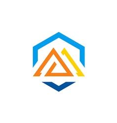 abstract shape construction logo vector image vector image