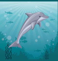 colorful background sea landscape underwater vector image