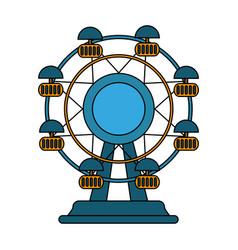 fair wheel design vector image