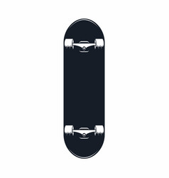 skateboard vintage skateboard icon isolated on vector image vector image