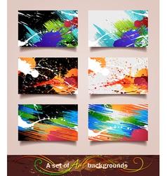 Art backgrounds vector image