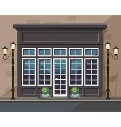 Europian Shop Museum Restaurant Store with Windows vector image vector image